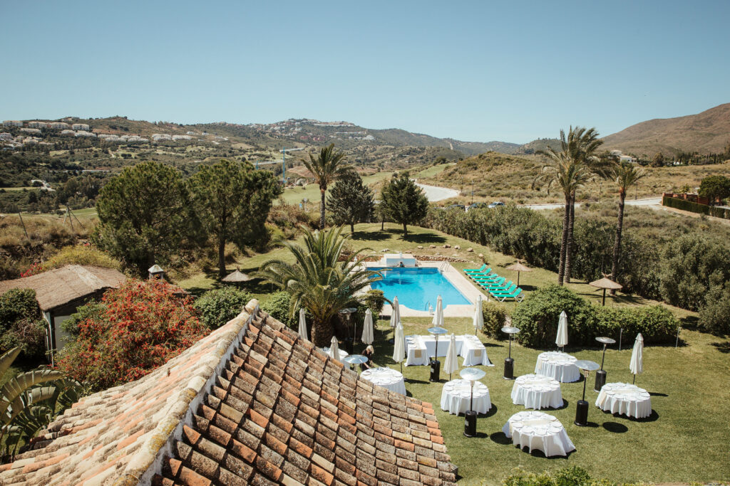 The stunning gardens and pool at the Hacienda - photo by @simon_gorges