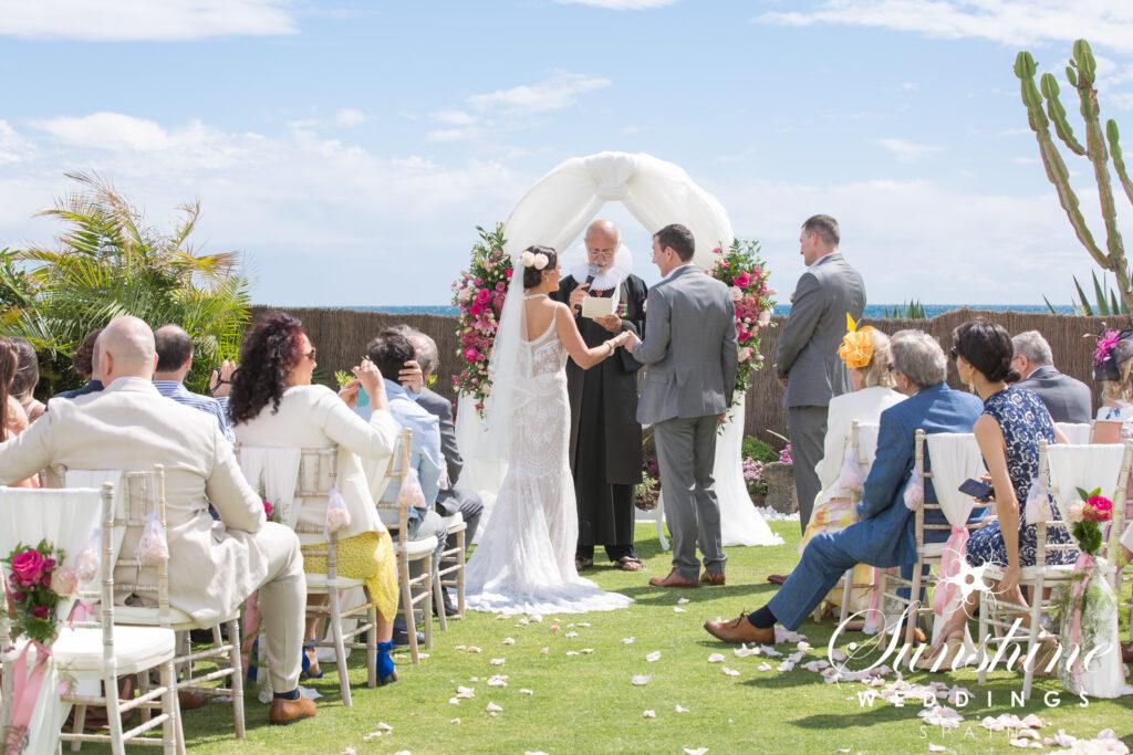 Wedding ceremony at a luxury Marbella villa