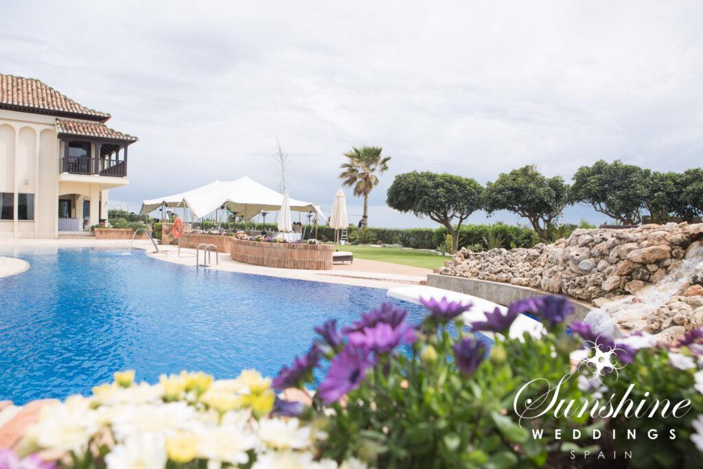 The pool at the seaview villa in Marbella
