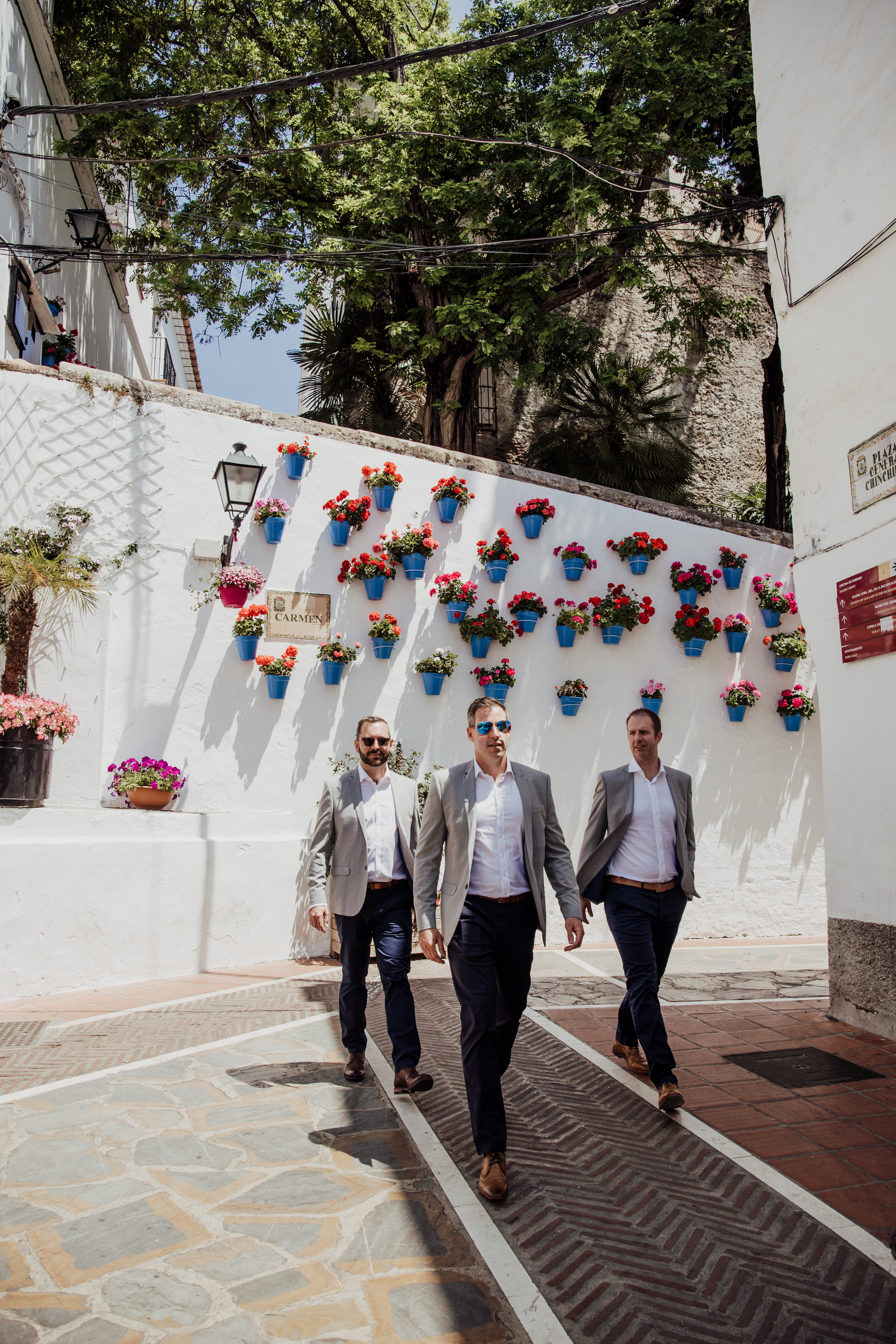 The groom in Marbella's Old Town