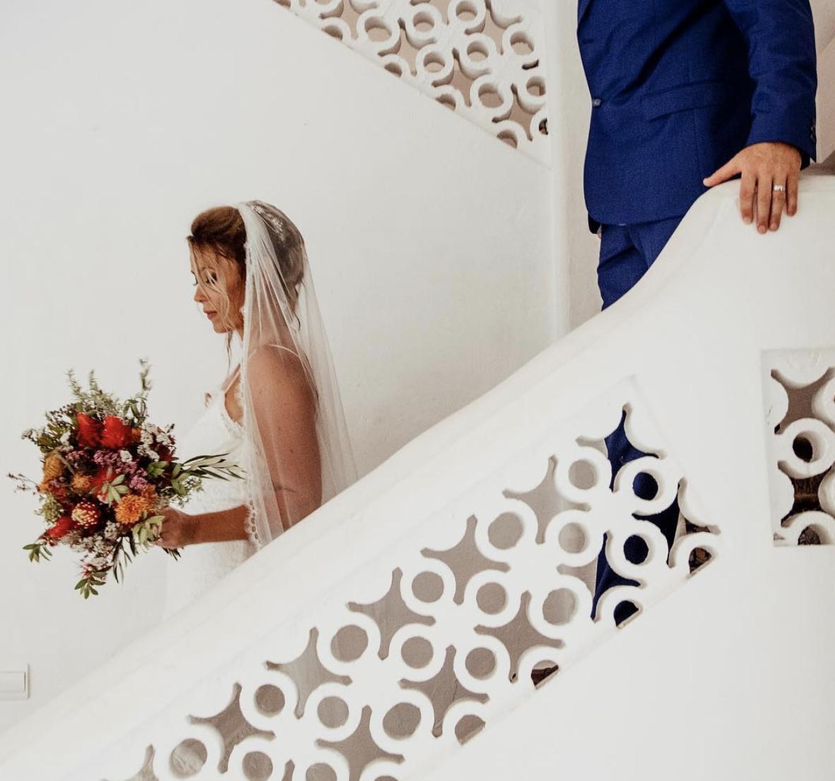 Bride & Bouquet Shot