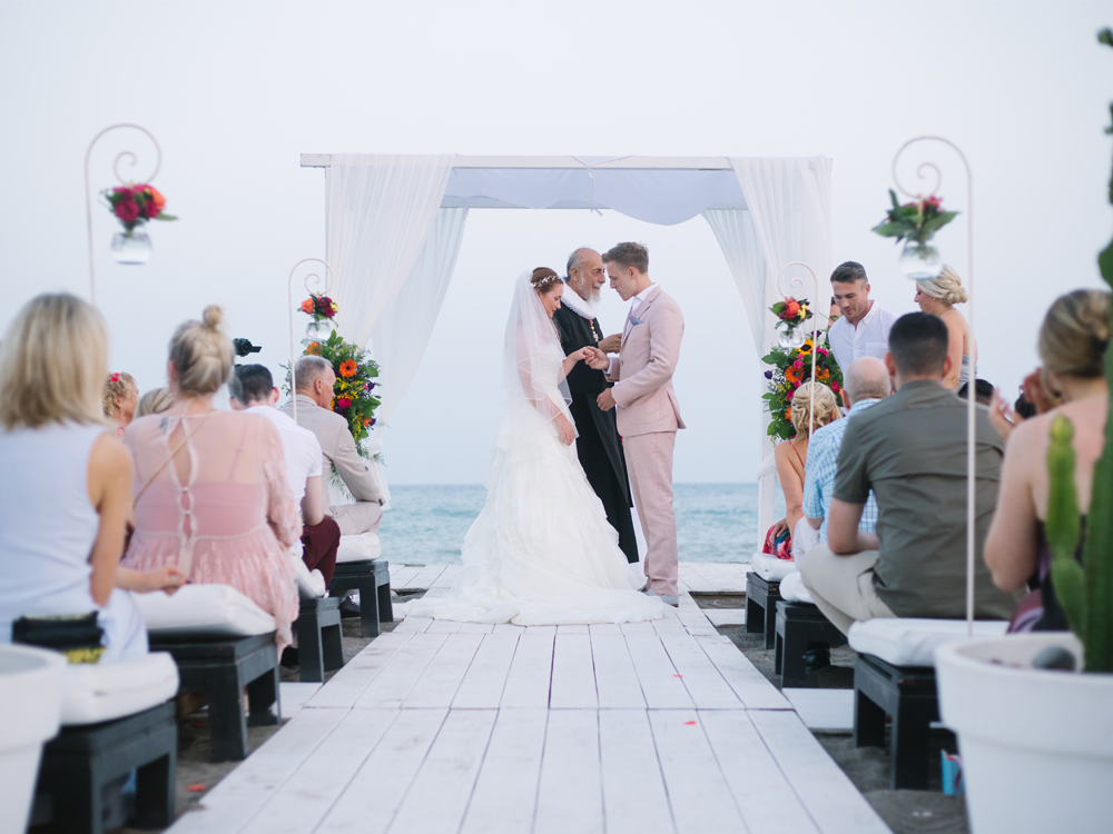 Luxury Beach Club Wedding