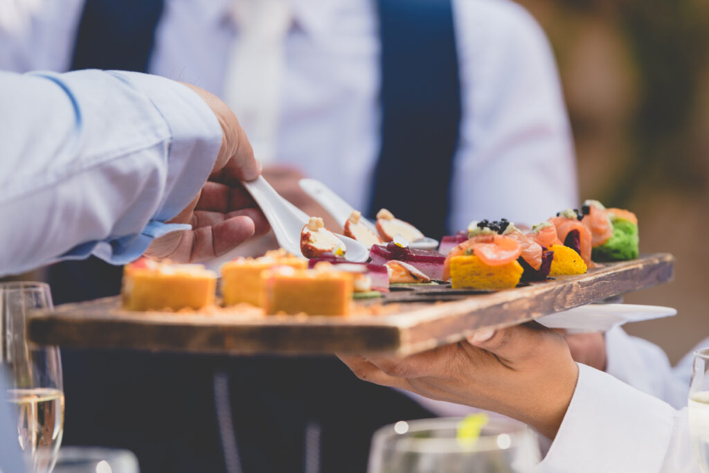 Captivating wedding canapes