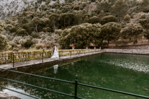 The impressive pond at the finca