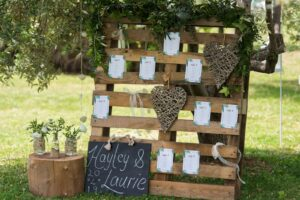 Rustic wedding styling