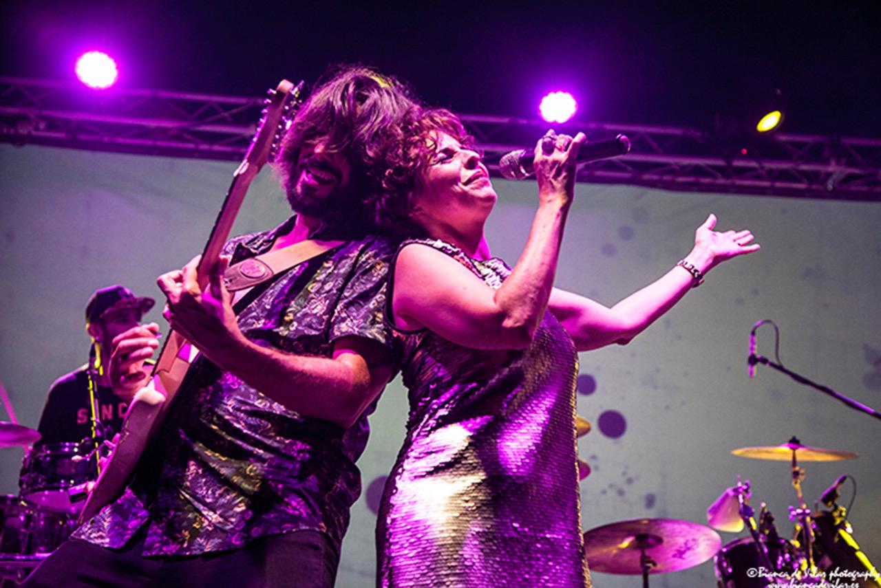 La Negra Mayte on stage