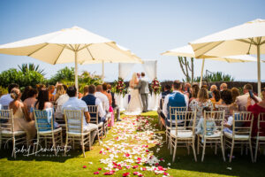 Wedding ceremony in the stunning villa gardens