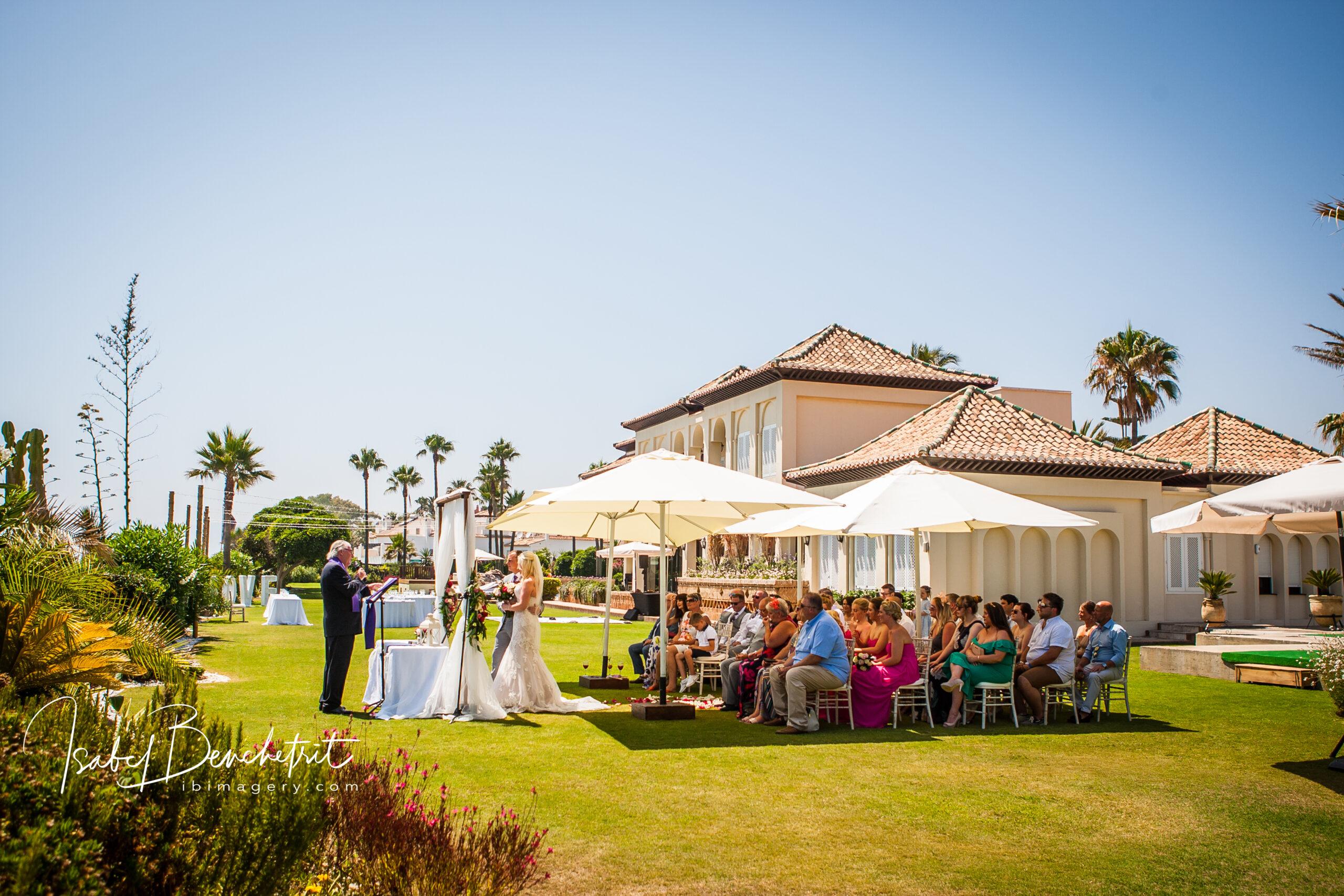 The wedding villa and wedding ceremony