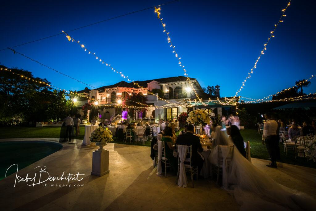 Evening at the villa