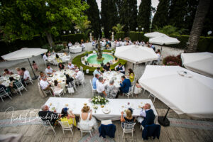 Wedding breakfast on the large terrace