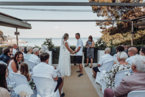 The beachside wedding ceremony - Dominic Lula Photographer Mallorca