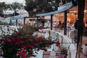 The beach club at dusk - Dominic Lula Photographer Mallorca