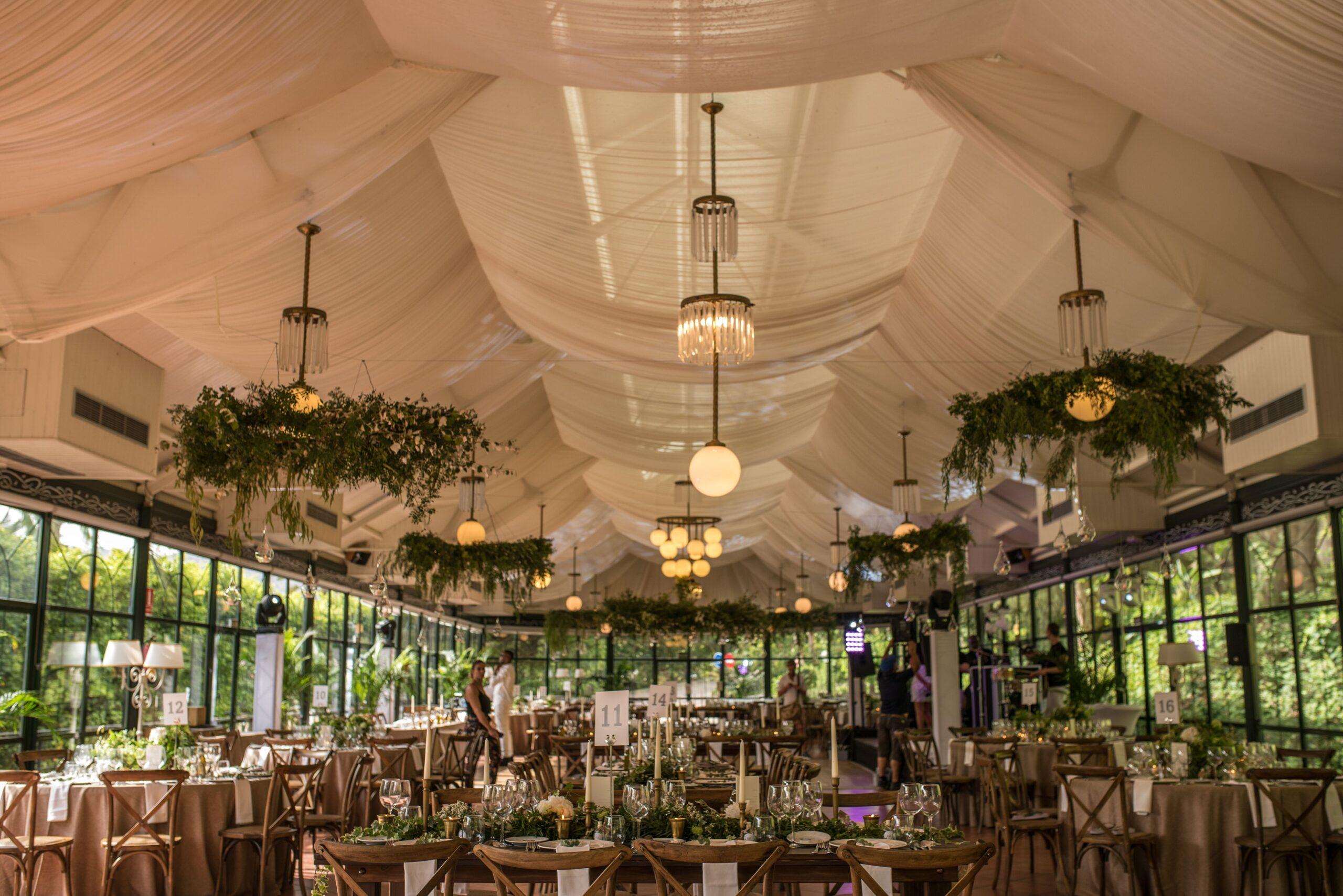 Stunning wedding decor ready for the wedding breakfast - Jeremy Standley