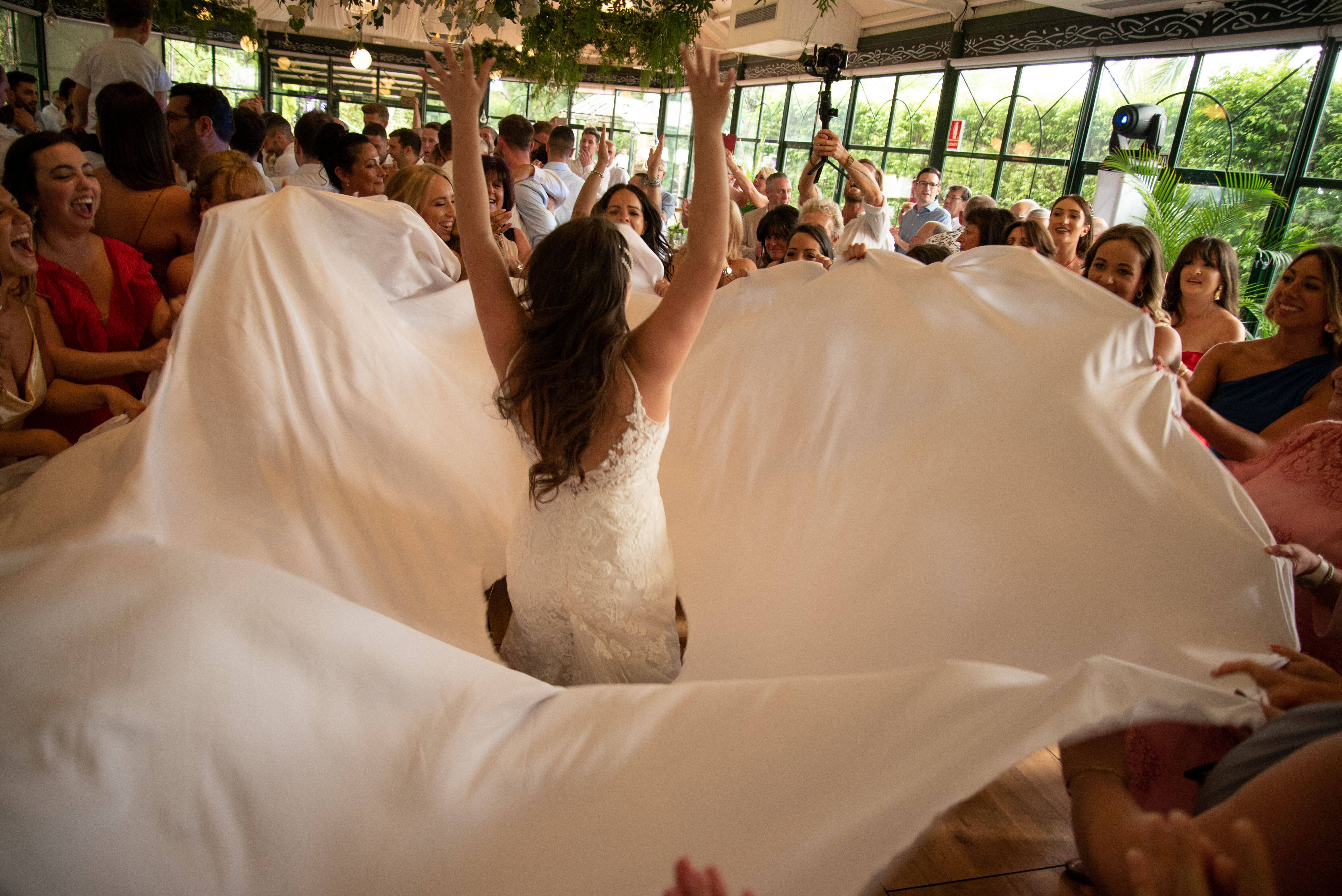 The bride dancing in her gorgeous gown - Jeremy Standley Photographer