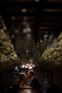 Bride and groom sharing a moment to reflect on a magical day and night - Jeremy Standley Photographer