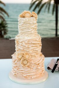 The beautiful wedding cake
