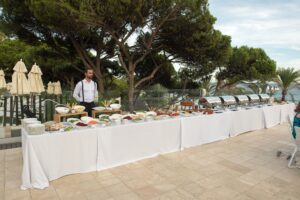 The wedding buffet