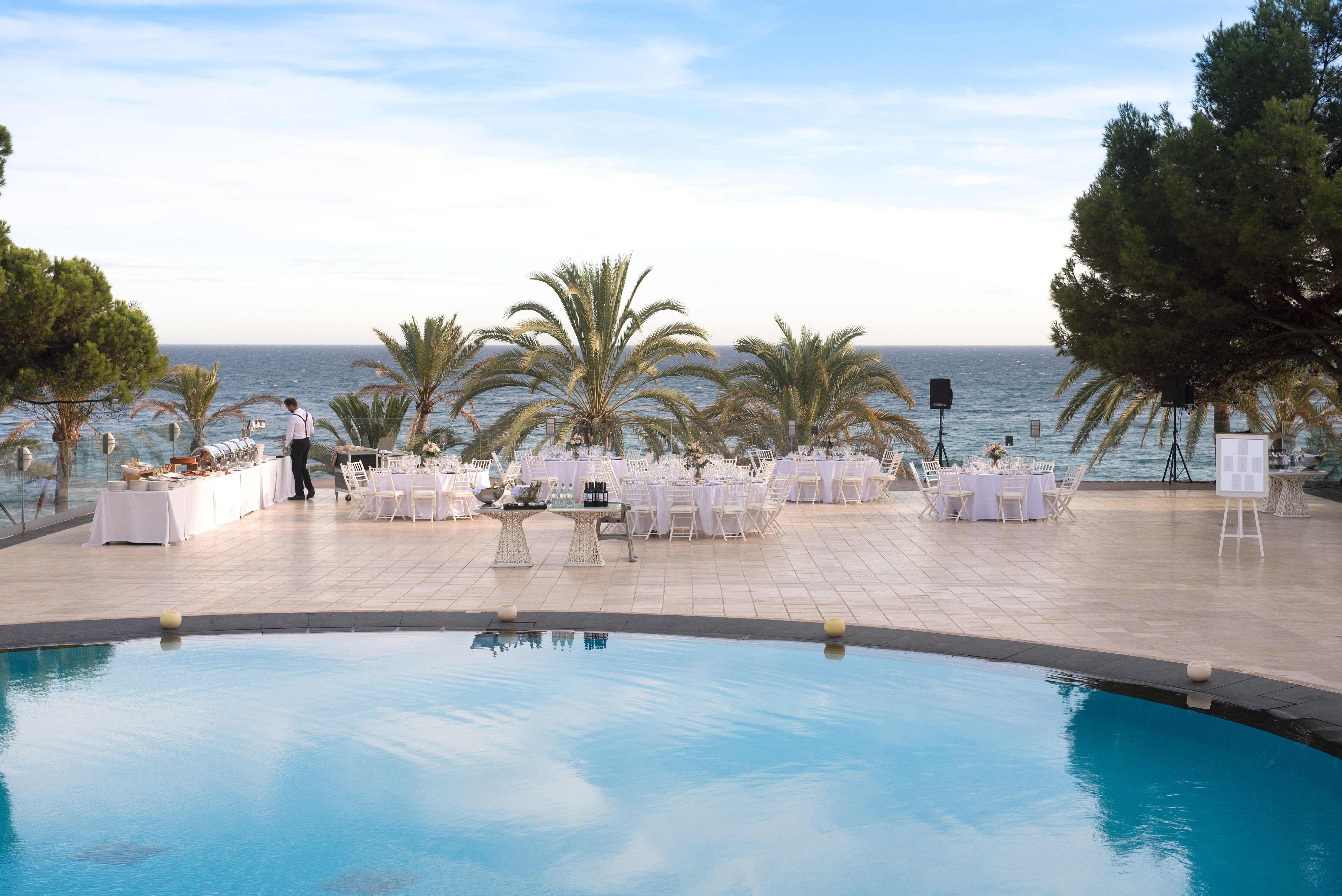 The stunning aquamarine pool