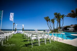 The beautiful beach club in Marbella