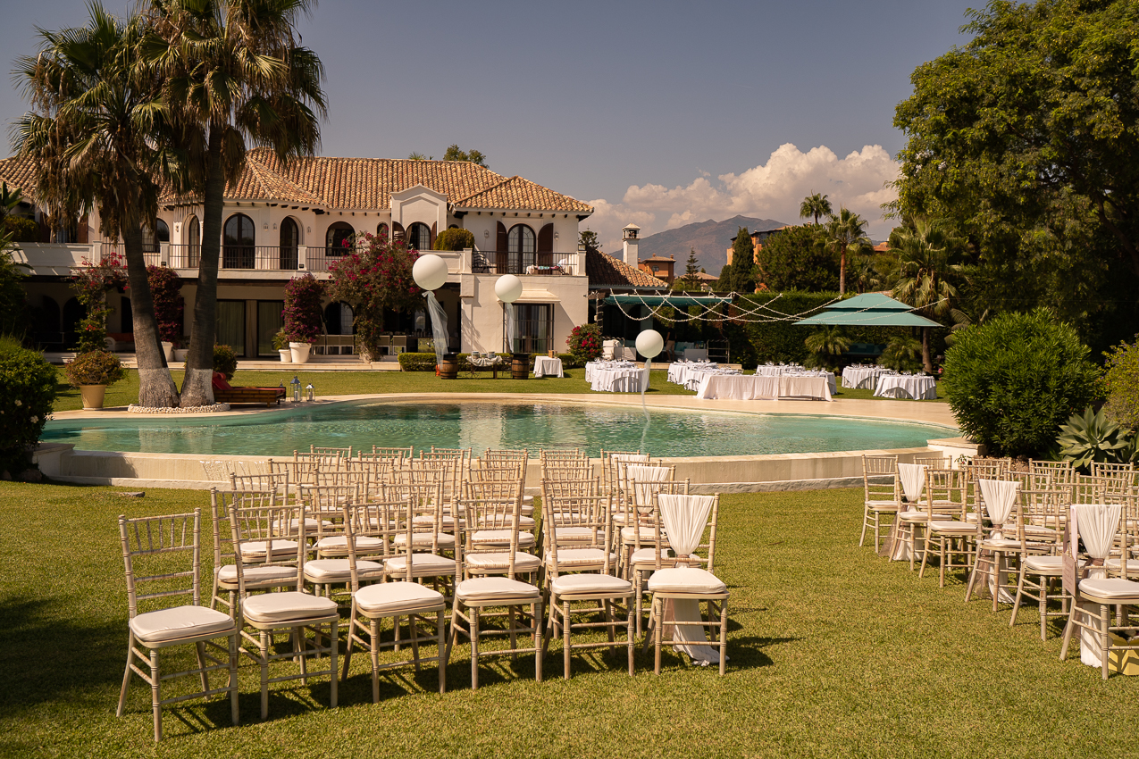 The beautiful ceremonial area at the Villa - Chris Wallace, Carpe Diem Photography