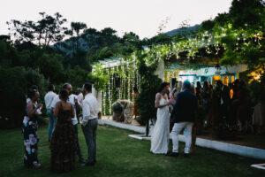 The Villa illuminated with fairy-lights at night - Pedro Bellido Photography