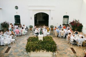 Wedding Guests Gather In Cortijo