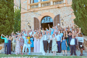The bridal party on the steps of the Finca, Thad Medford Photography
