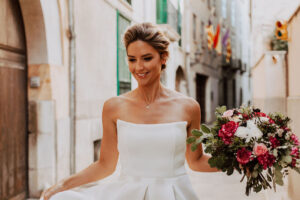 Beautiful Bride In The Street