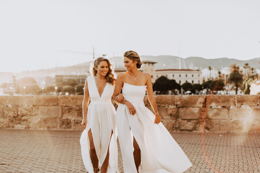 Stunning Bride & Bridesmaid
