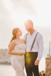 Newly Married Couple In The Sun