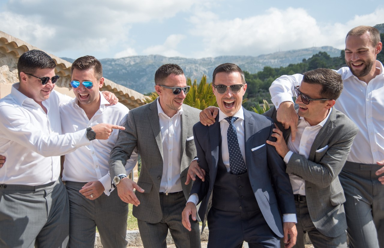 The groom and his crew in southern Spain.