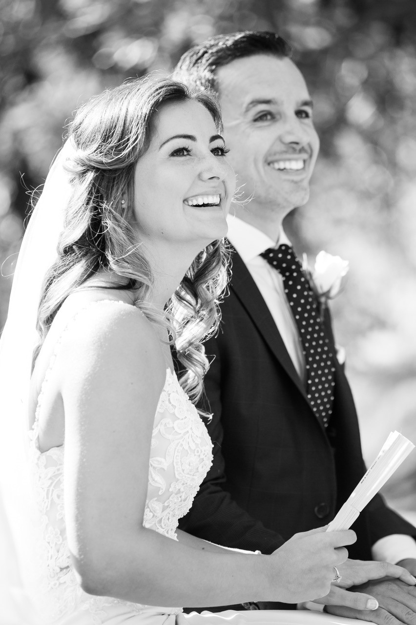 Stunning black and white wedding photo.