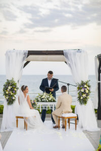 The beautiful ceremony overlooking the Mediterranean Sea