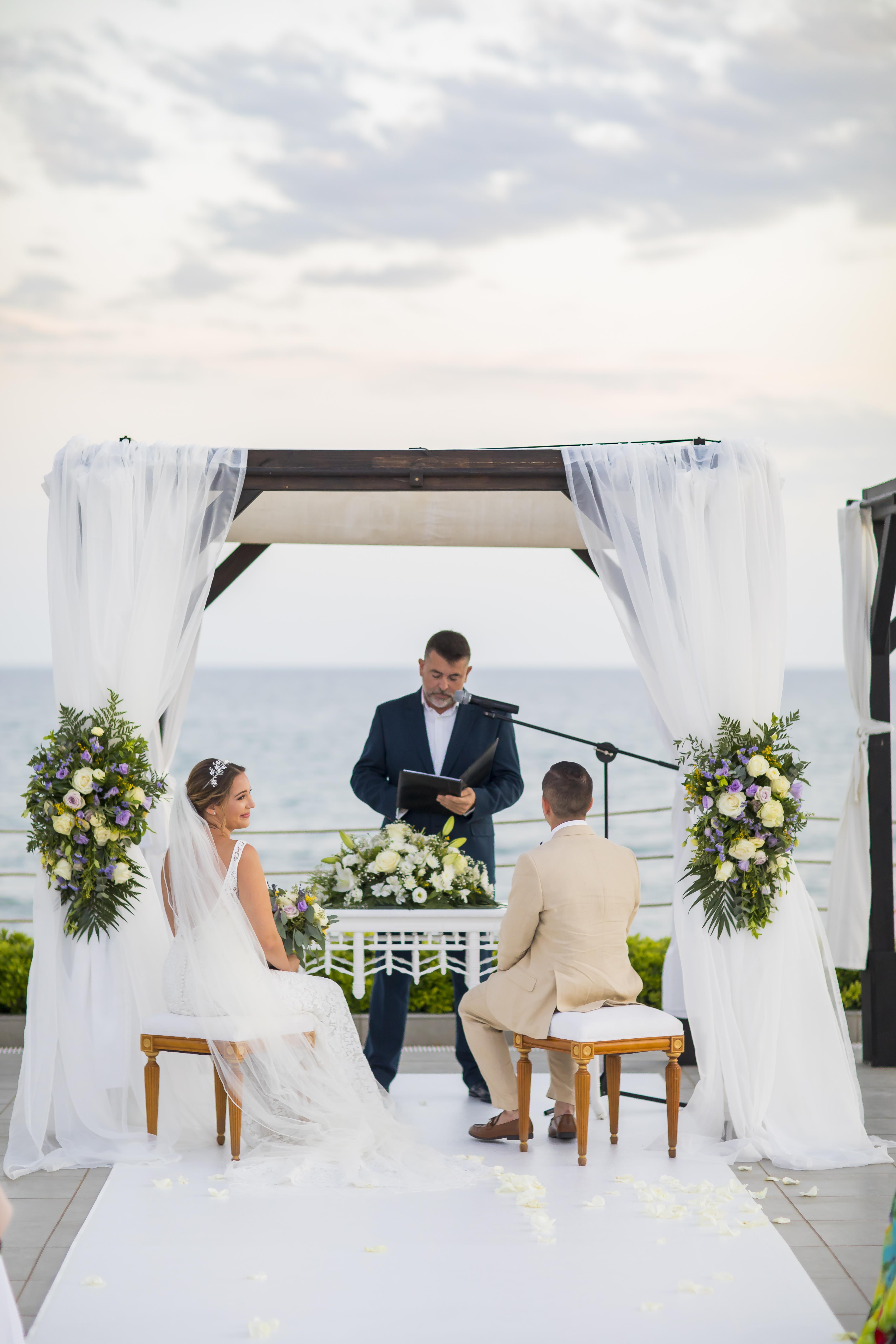 The beautiful ceremony overlooking the Mediterranean Sea
