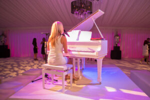 Lucy Sassoon on piano