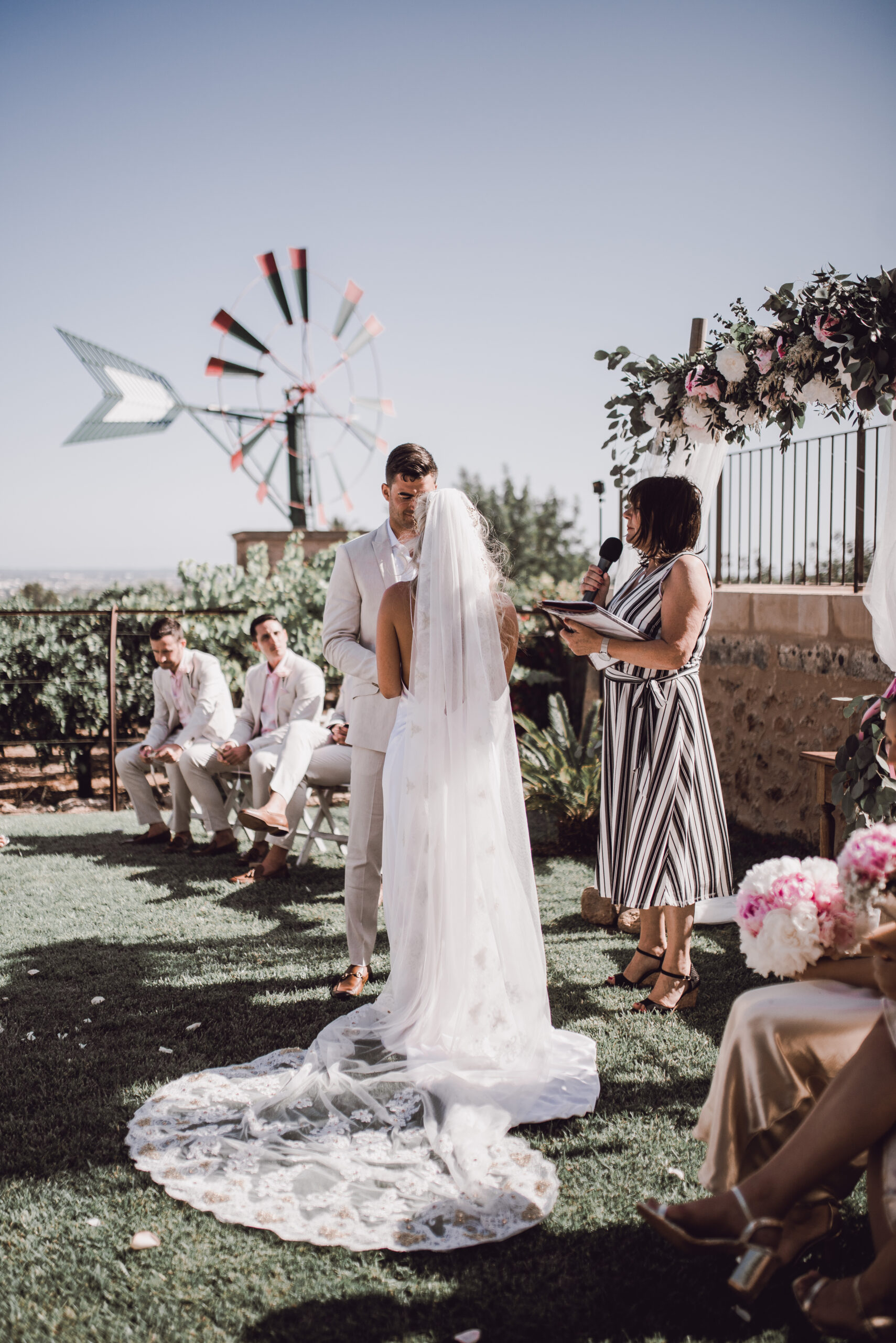 The wedding ceremony in the grounds of the Finca - Rebecca Jackson Photography