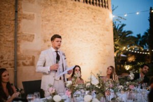 The groom delivering his speech - Aimee K Photography