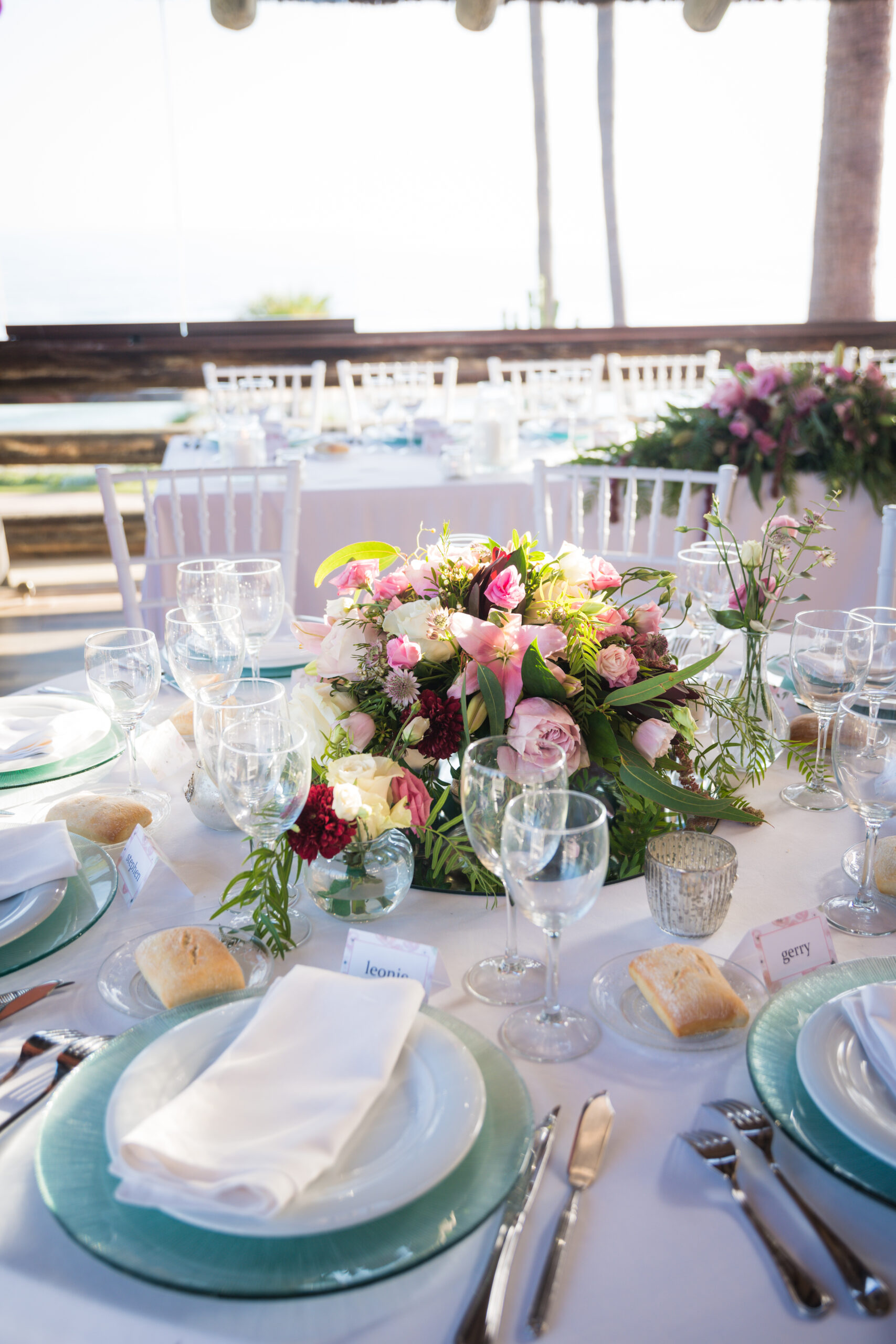 Stunning table decorations for the wedding meal - Rebecca Davidson Photography