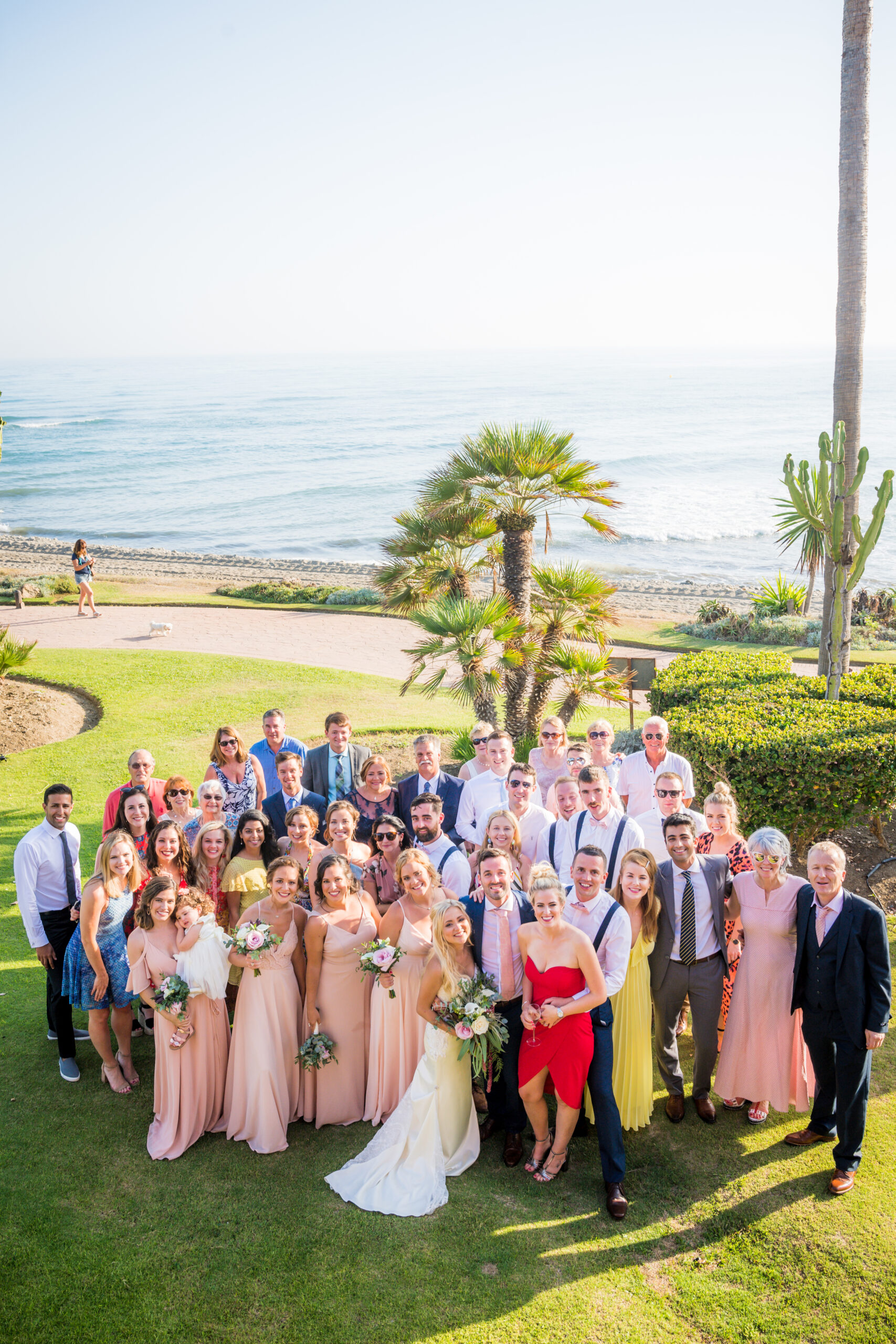 The bridal party by the sea - Rebecca Davidson Photography