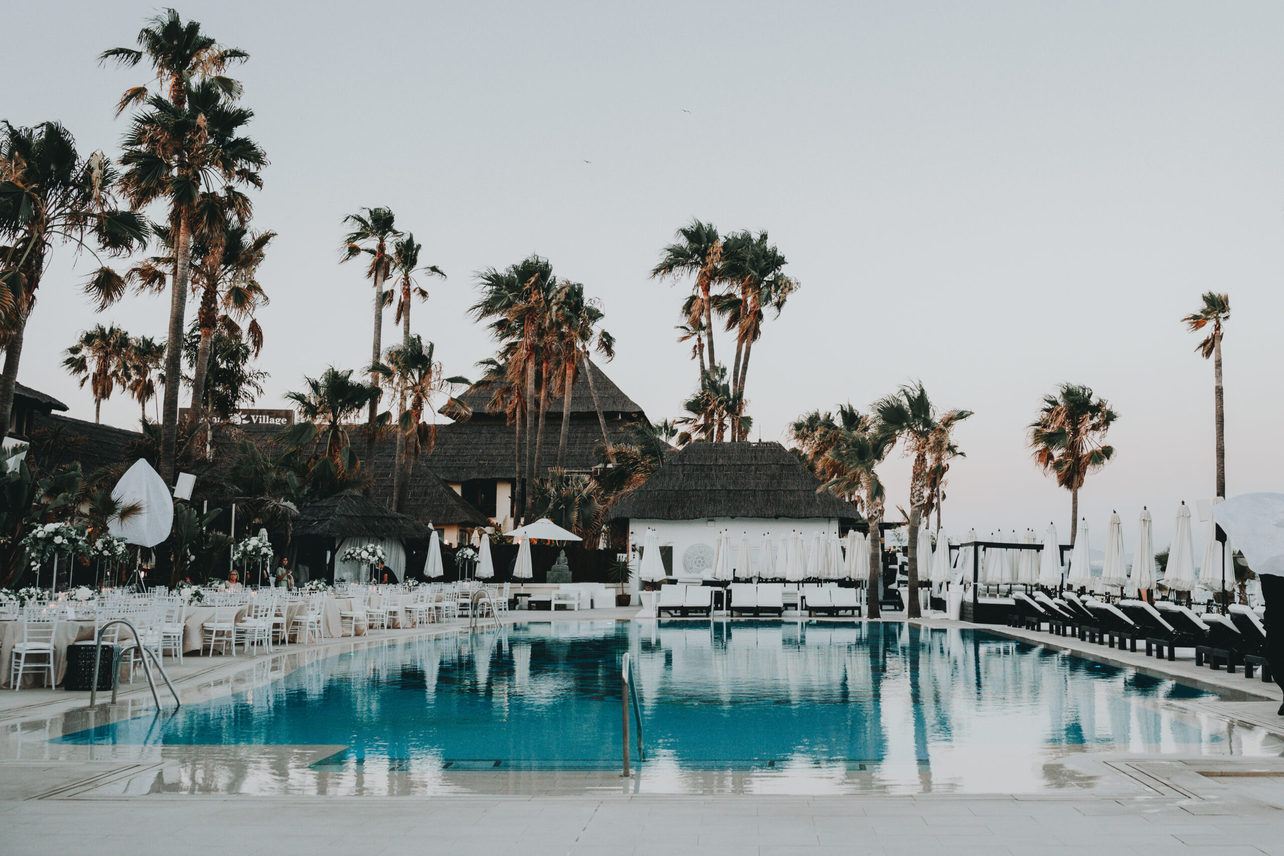 The luxurious beach club pool - Gino K photography