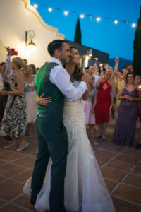 The happy couple dancing the night away - Rebecca Davidson Photography