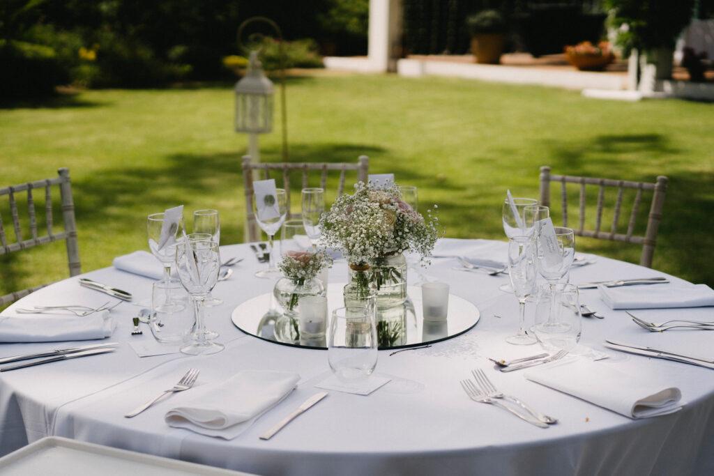 Elegant wedding styling for the wedding breakfast - Pedro Bellini Photography