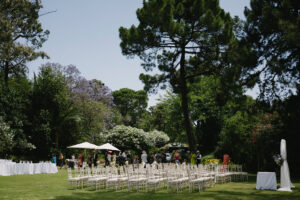 The ceremony set up on the Villa's magnificent lawn - Pedro Bellido Photography