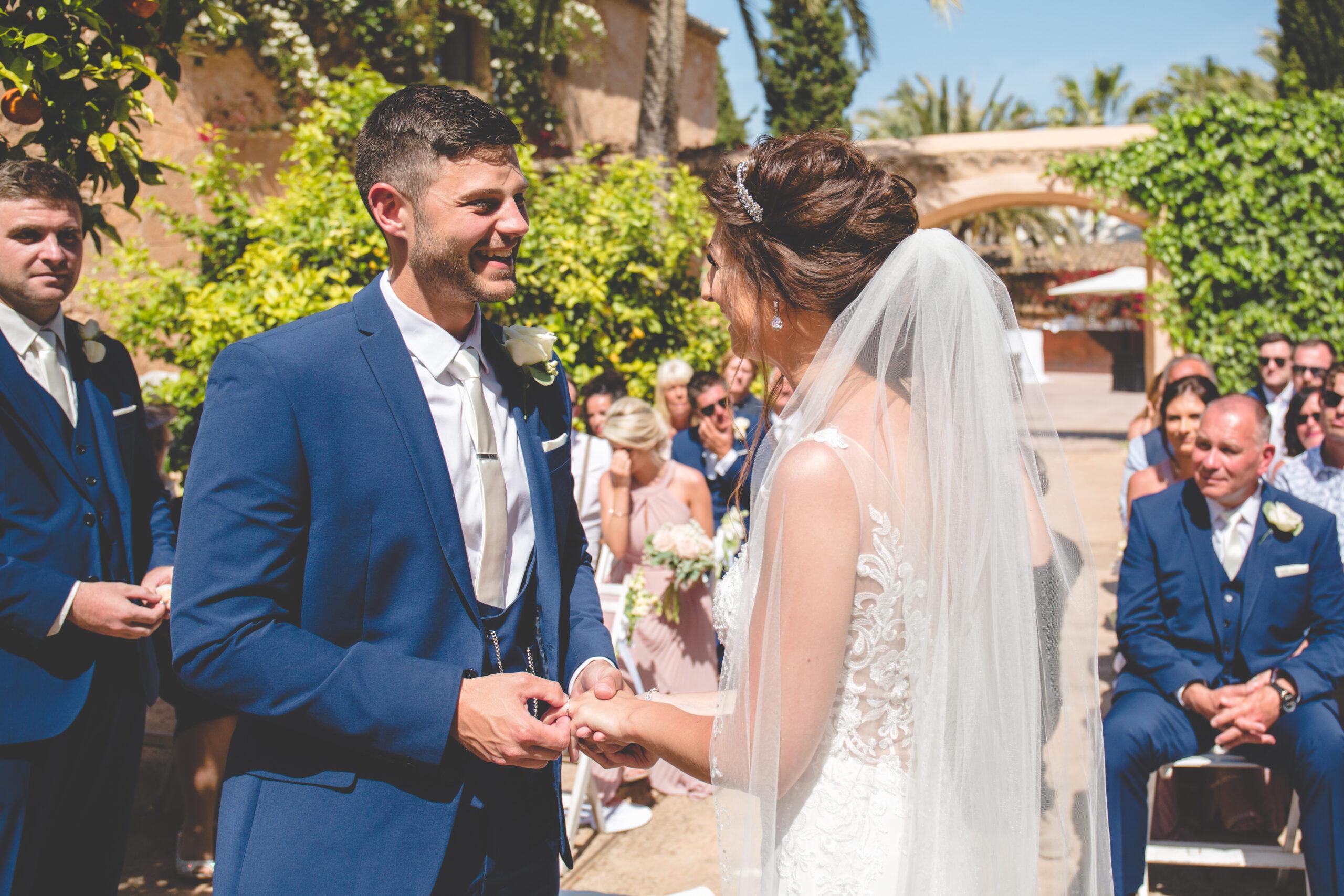 Wedding ceremony in the Finca's courtyard