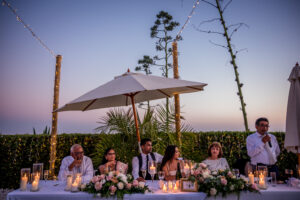 The evening wedding feast - Rebecca Davidson Photography