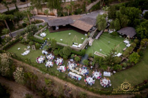 Aerial shot of the Finca's grounds - Balance Photography