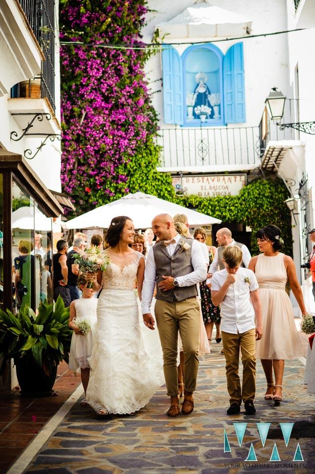 Just Married in Spain.