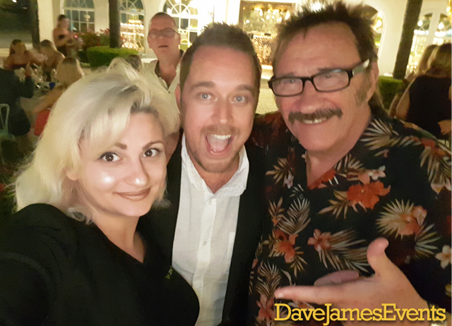 Dave James with entertainer Paul Chuckle