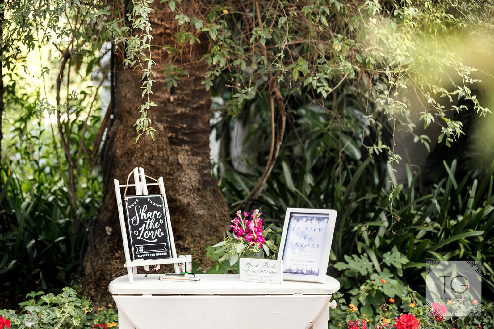 Decorative wedding signage