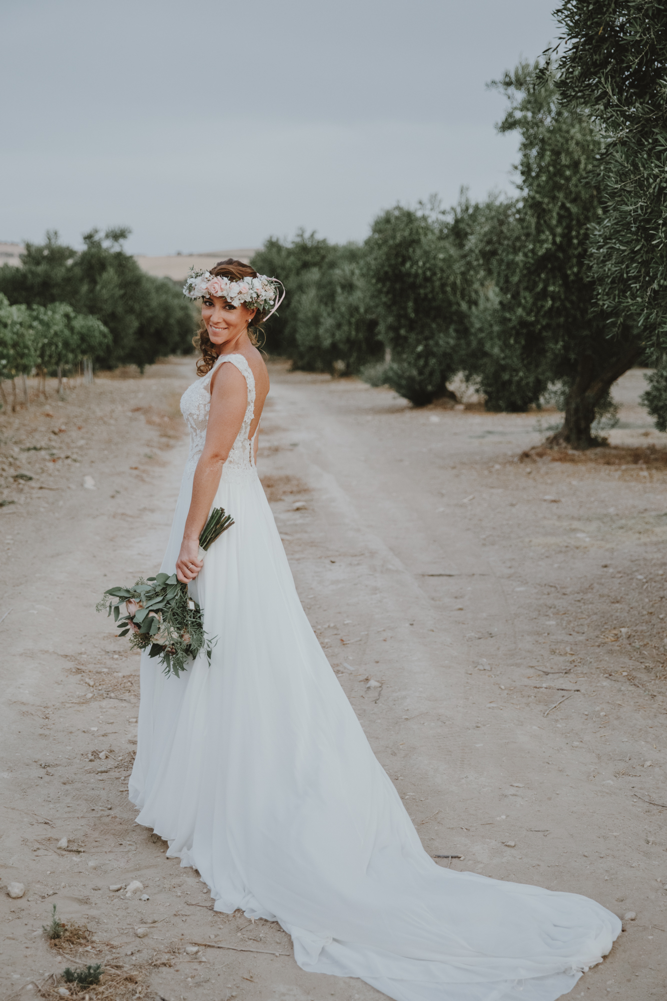 The Love Hunters - A bride amidst the olive groves
